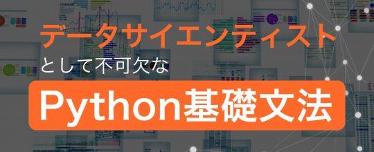 データサイエンティストとして不可欠なPython基礎文法